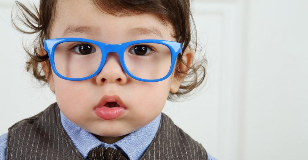 Eye exams for kids, toddler with glasses, Newbugh optometrist
